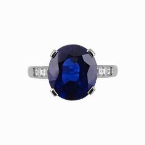 Sapphire and Diamond Ring 7.11ct